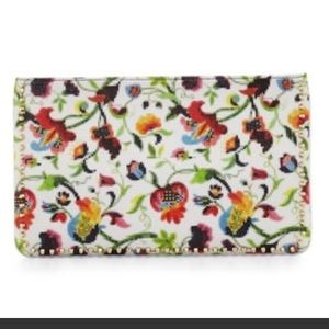 100% Authentic Christian Louboutin floral clutch
